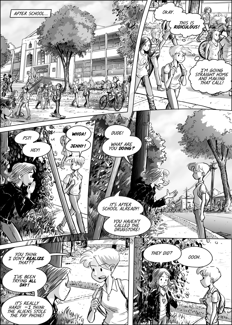 webcomic Jenny Mysterious by Mark Oakley www.iboxpublishing.com
