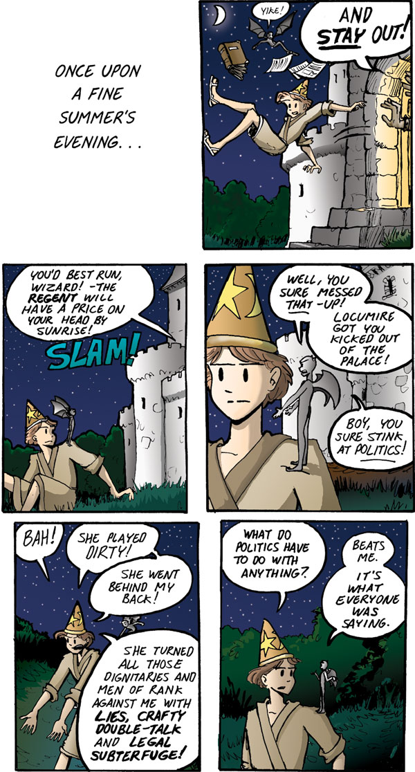 The Walking Mage webcomic #2 - Fired